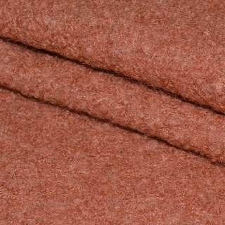 Лоден-букле терракотовый ш.150
