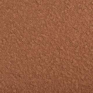 Лоден букле крупное разнофактурное пальтовый коричнево-рыжий, ш.150