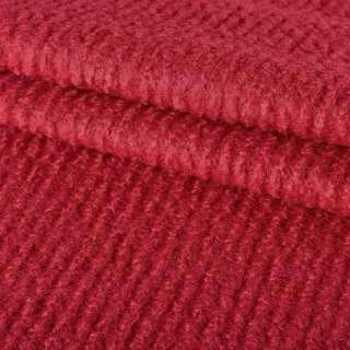 Лоден букле крупное диагональ пальтовый красный, ш.150
