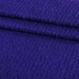 Лоден букле крупное диагональ пальтовый синий-электрик, ш.150