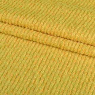 Лоден букле крупное диагональ пальтовый желтый, ш.150