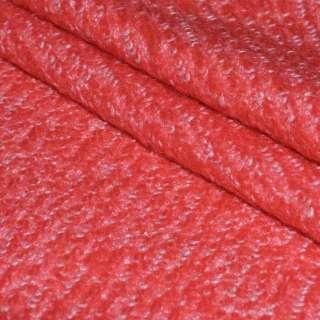 Лоден букле крупное диагональ пальтовый ало-белый, ш.150