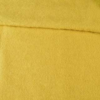 Лоден мохеровый пальтовый желтый, ш.160