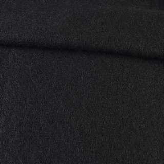 Лоден мохеровый пальтовый черный, ш.160