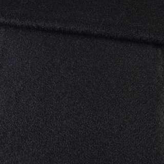 Лоден мохеровый со стриженным ворсом пальтовый черный ш.150