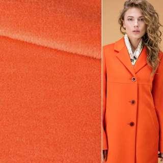 Альпака-лоден на трикотажной основе оранжевая яркая ш.152