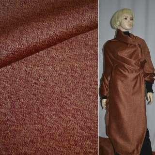 Ткань пальтовая меланж бордовая