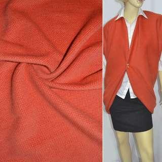 Ворсовая пальтовая оранжевая ш.140