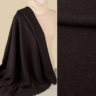 Букле пальтовое елочка коричневое темное, ш.147