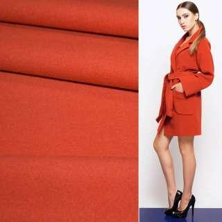 Ткань пальтовая 2-х ст. морковно-красная ш.150