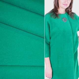 Ткань пальтовая 2-ст. нефритовая (зеленая) ш.150