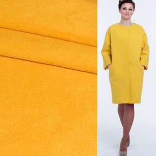 Ткань пальтовая 2-ст. ярко-желтая ш.149