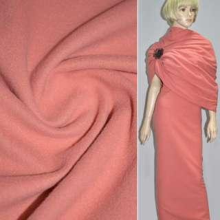 Ткань пальтовая кораллово-розовая на трикотажной основе ш.157