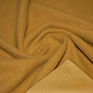Пальтовая ткань на трикотажной основе мандариновая темная, ш.158