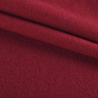 Ткань пальтовая бордовая на трикотажной основе ш.160
