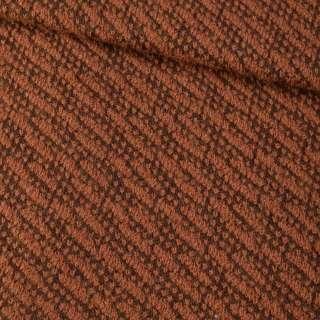 Пальтовый трикотаж-диагональ коричневый ш.150