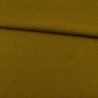 Лоден пальтовый горчично-зеленый, ш.155