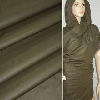 Ткань плащевая зеленая темная ш.150