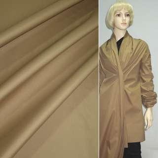 Ткань плащевая коричневая светлая на трикотажной основе ш.150