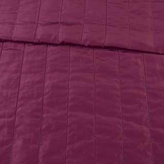 Ткань плащевая стеганая лиловая матовая полоска (5см), ш.150