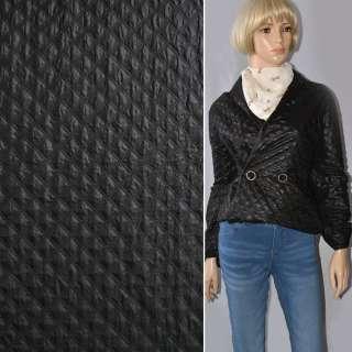 Ткань плащевая стеганая черная ш.150
