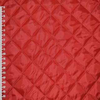 Ткань подкладочная стеганая красная (синтепон 100) ш.150