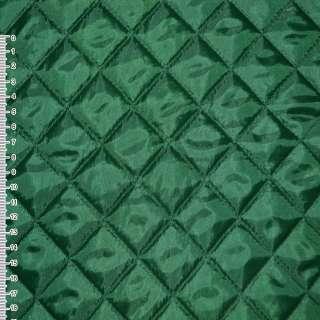 Ткань подкладочная стьобана зеленая (синтепон 100) ш.150