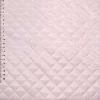 "Ткань подкладочная стеганая бледно-розовая ""квадрат"" ш.150"