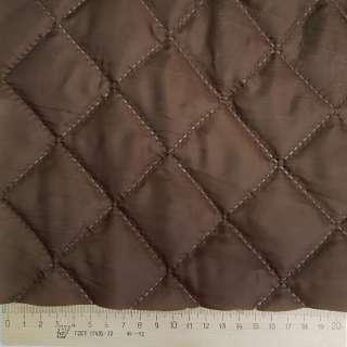 Ткань подкладочная термостеганая коричневая (синтепон 100), ш.150