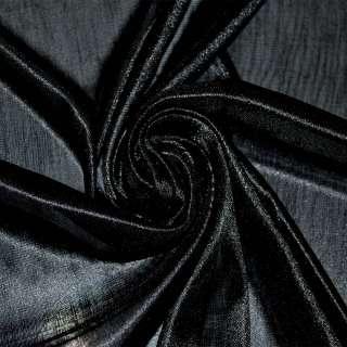 Ткань подкладочная трикотажная черная ш.160