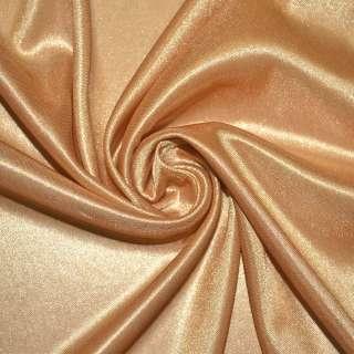 Ткань подкладочная трикотажная золотисто-рыжая ш.158
