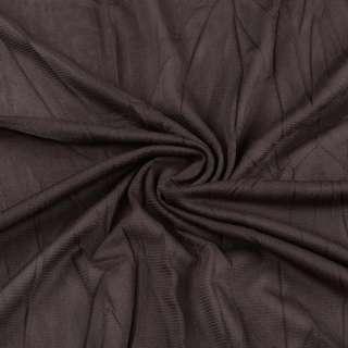 Сетка подкладочная жатая коричневая темная ш.135