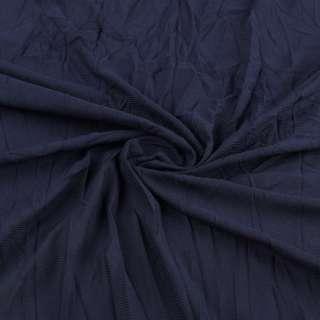 Сетка подкладочная жатая синяя темная ш.130
