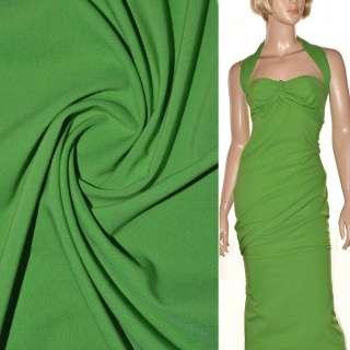 Поплин стрейчевый зеленый (весенний) ш.150