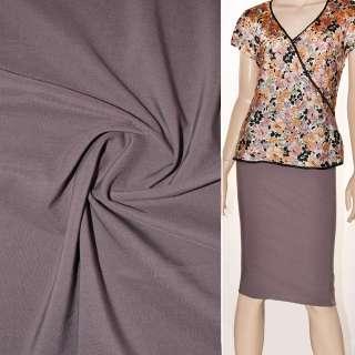 Поплин стрейчевый фиолетово-серый ш.150