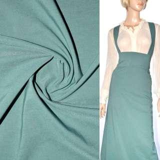 Поплин стрейчевый зелено-серый ш.150