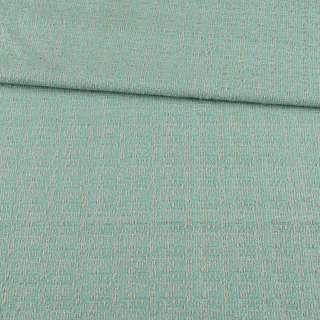 Рогожка костюмная бирюзово-серая ш.148