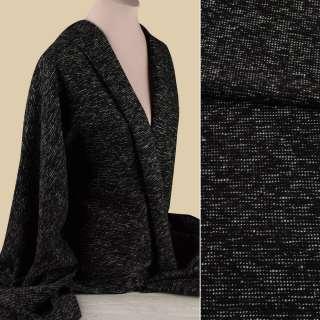 Рогожка черно-серая ш.150
