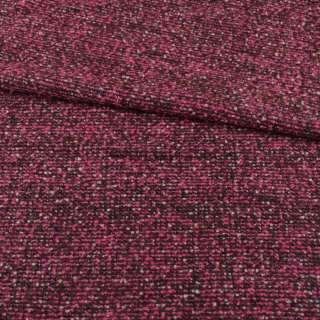Рогожка костюмно-пальтовая с шерстью малиново-коричневая ш.150