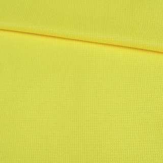 Рогожка стрейч желтая яркая, ш.145