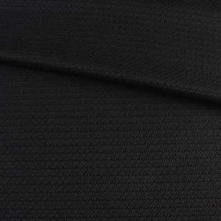 Рогожка костюмная с вискозой стрейч черная, ш.150