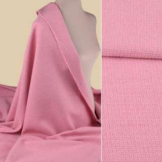 Рогожка букле костюмная розовая, ш.155