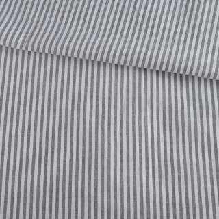 Вискоза рубашечная в бело-серую полоску 3мм ш.135
