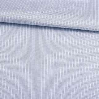 Поликоттон голубой в белую полосу 4*1мм ш.143