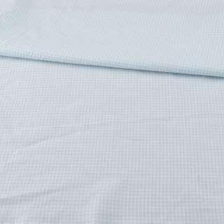 Коттон в бело-голубую мелкую клетку ш.160
