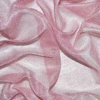Трикотаж бледно розовый с метанитью ш.110