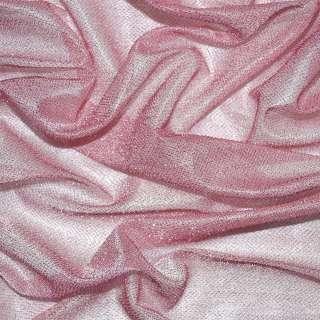 Трикотаж розовый с метанитью ш.115