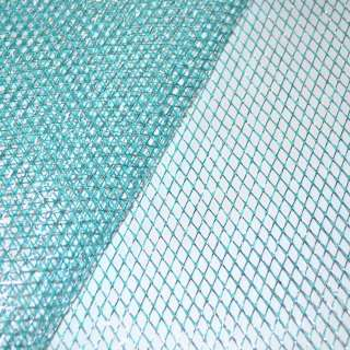 Сетка голубая с серебряным люрексом (жесткая, крупная) ш.160