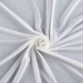 Сетка стрейчевая плотная белая ш.160