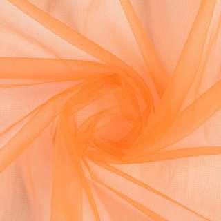 Сетка трикотажная прозрачная мягкая оранжевая ш.160